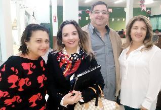 Rosana Greghi, Dr. Rita, Kiko e Cida Cilli.