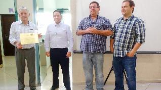 Recebendo o Certificado PQEC + ISO 2016 - Sr. Bernardino, José Eduardo, Kiko e Henrique