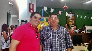 Gabriel Delena (Jornal do Meio-Dia) e Kiko